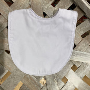 White Piping Bib