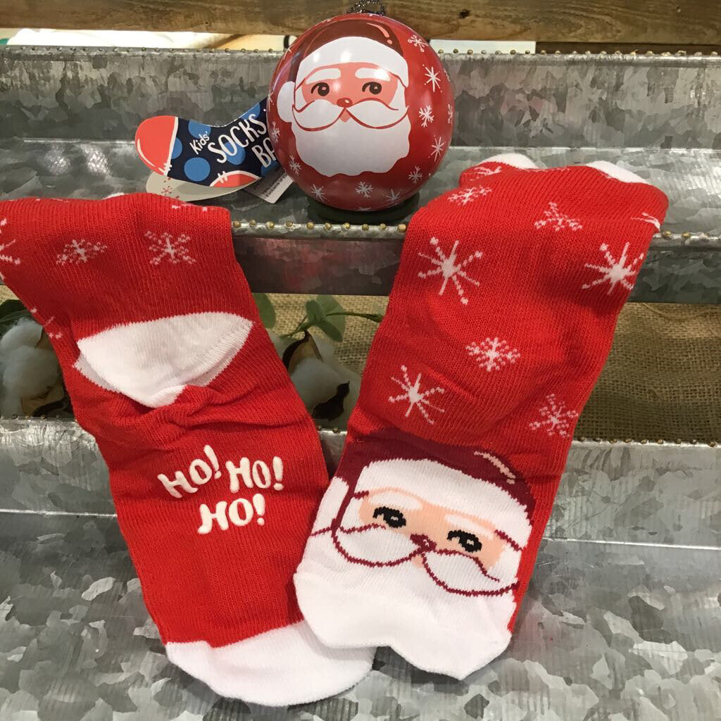 Cheerful Claus Kid's Sock in Ball