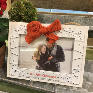 Our First Christmas Frame Ornament