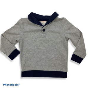 Boys Cat and Jack Grey Fleece Sweatshirt Size 5