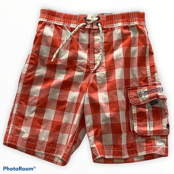 Baby Gap Orange Checked Swim Trunks Size 5