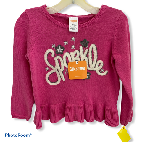 Gymboree NWT Pink Sparkle Sweater Size 2T