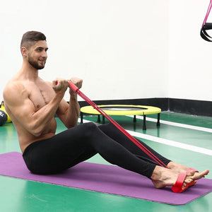 VAMOS - Fitness Gum 4 Tube Resistance Bands for Pilates Workout