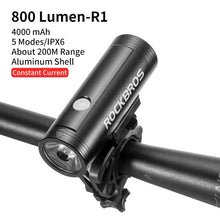 Load image into Gallery viewer, ROCKBROS Bike Light Rainproof USB Rechargeable LED 2000mAh MTB Front Lamp Headlight Aluminum Ultralight Flashlight Bicycle Light