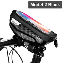 Load image into Gallery viewer, WILD MAN Rainproof Bicycle Bag Frame Front Top Tube Cycling Bag Reflective 6.5in Phone Case Touchscreen Bag MTB Bike Accessories