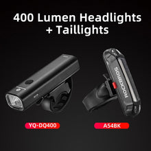 Load image into Gallery viewer, ROCKBROS 400LM Bike Light Headlight Bicycle Handlebar Front Lamp MTB Rode Cycling USB Rechargeable Flashlight Safety Tail Light
