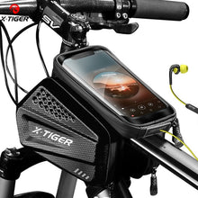 Load image into Gallery viewer, X-TIGER Rainproof Bicycle Bag Bike Frame Bag Touchscreen Phone Case Cycling Bags MTB Bike Bicycle Top Tube Handlebar Bicycle Bag
