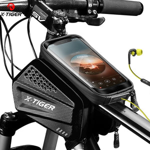 X-TIGER Rainproof Bicycle Bag Bike Frame Bag Touchscreen Phone Case Cycling Bags MTB Bike Bicycle Top Tube Handlebar Bicycle Bag