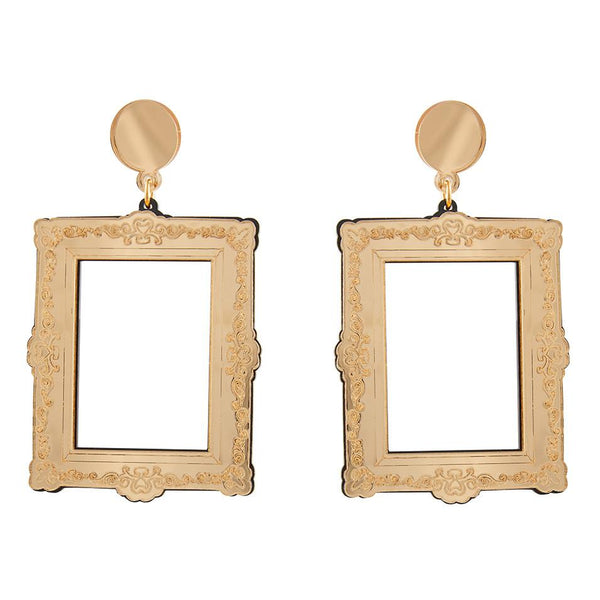 Picture frame earrings by Lou Taylor