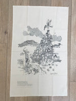 Quentin Blake 'Feet in Water' Tea Towel