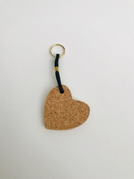 Cork Keyring: Heart (light)