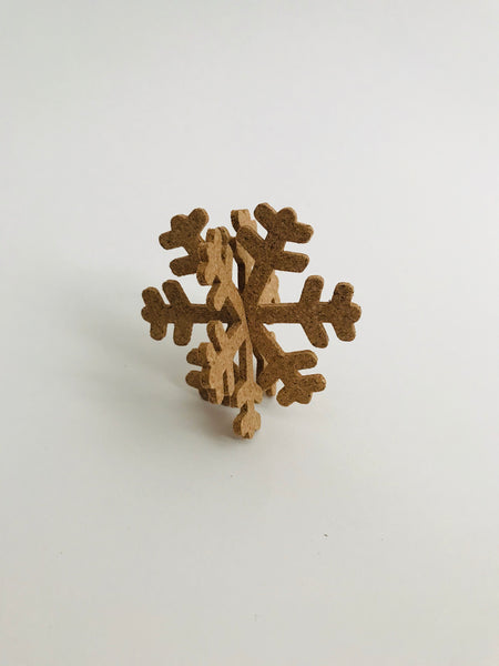 Pop-A-Cork Decoration: Snowflake