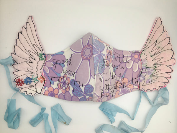 Speak To Me 'Speak Your Truth' Textile Sculpture by Janey Moffatt