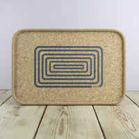 Cork Drinks Tray - Orbit