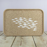 Cork Drinks Tray - Fish