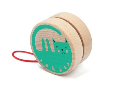 Wooden Yo-Yo: Cat