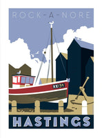 Hastings Print - Rock a Nore