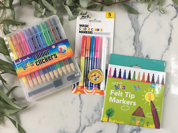 Kids Mont Marte Markers and Pencil Sets