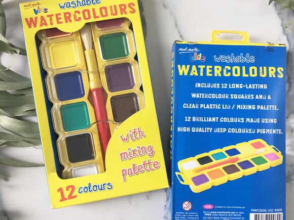 Mont Marte KIDS Washable Watercolours