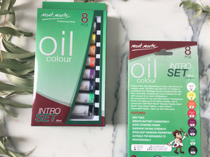 Mont Marte Oil Colour - 8 Piece Intro Set