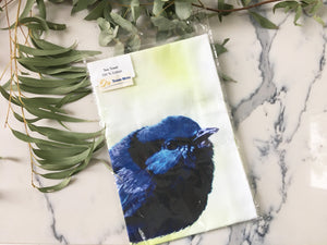Blue Wren Tea Towel