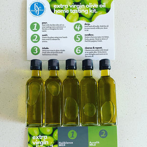 extra virgin olive oil home tasting kit