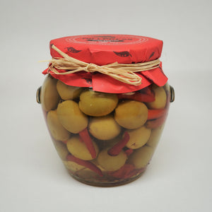 Manzanilla Olives Stuffed with Red Chillies