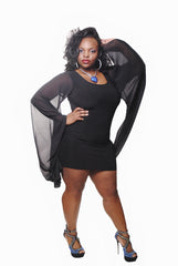 BLACK GONE WITH THE WIND BODY CON