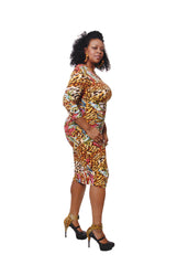 MIAMI HEAT MIDI LENGTH BODY CON