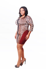 ANIMAL PRINT & WINE BODY CON