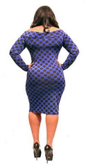 POLKA DOT BODY CON-COLBALT BLUE