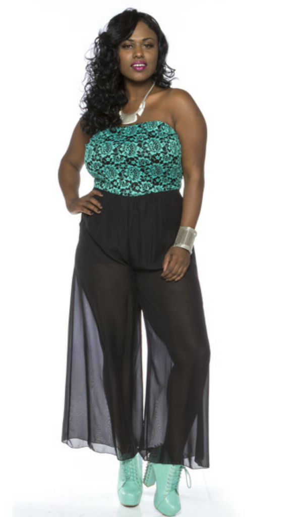 * STRAPLESS TEAL & BLACK JUMPER – Kurvz Boutique - photo#24