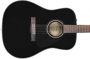 Guitarra acústica, color negro Fender FA-125 Dreadnought