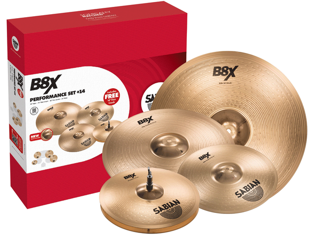 "PLATILLOS SABIAN B8X PERFORMANCE SET 14"" HATS/16""/20""/14"" GR"