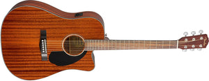 Guitarra Acústica Fender 4/4 Recortada CD-60SCE Dread All Mahogany con Previo 970113022