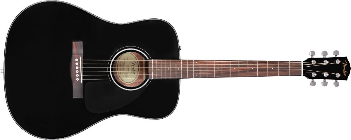 Guitarra Acustica Fender Negra Cd-60 Dreadnought V3