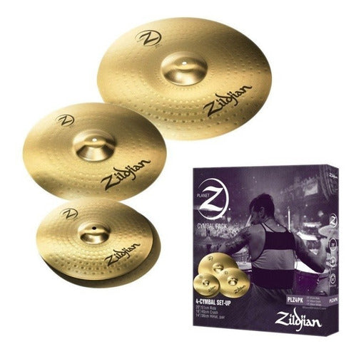 PAQUETE DE PLATILLOS PLANET Z CONTRAS 14 CRASH 16, RIDE 20 ZILDJAN
