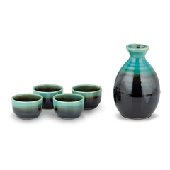 Sake Set - Green/Black