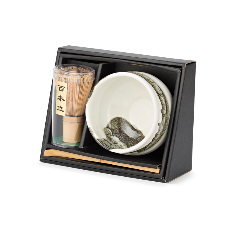 Matchawan Green Tea Set - Shirouroshi