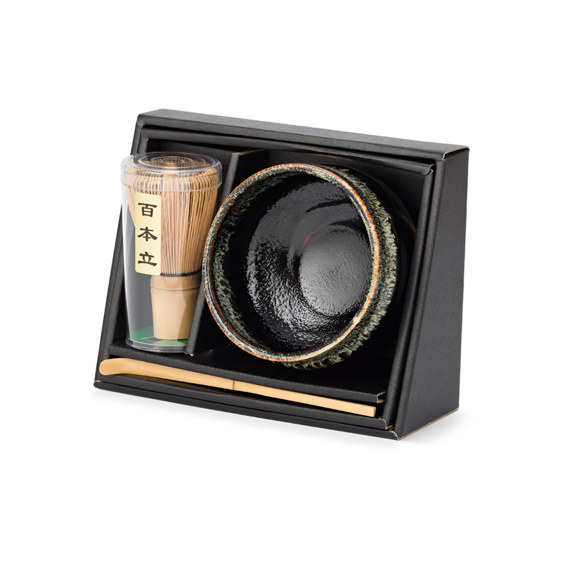 Matchawan Green Tea Set - Black