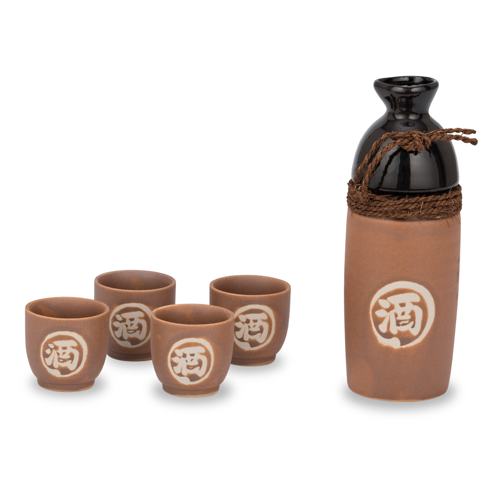 Warimaru Sake Set - Brown