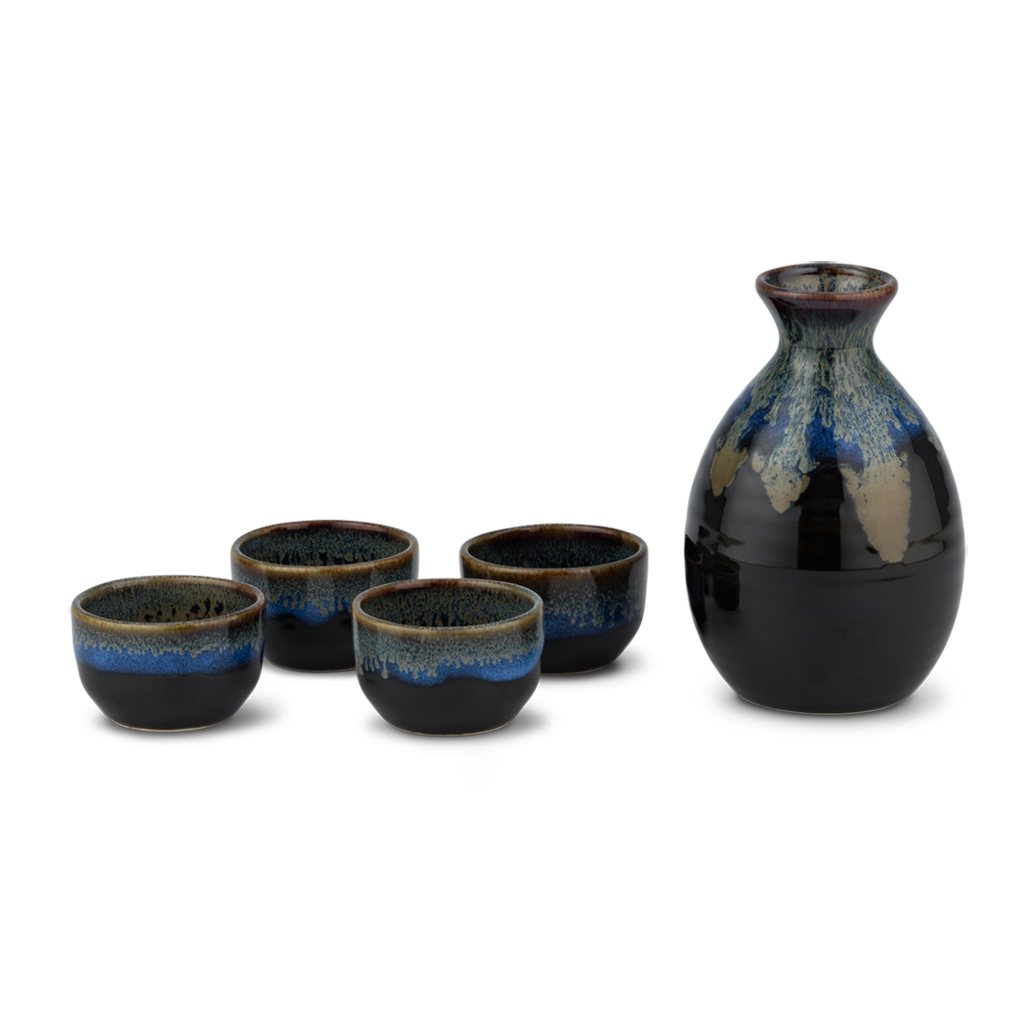 Sake Set - Blue/Black