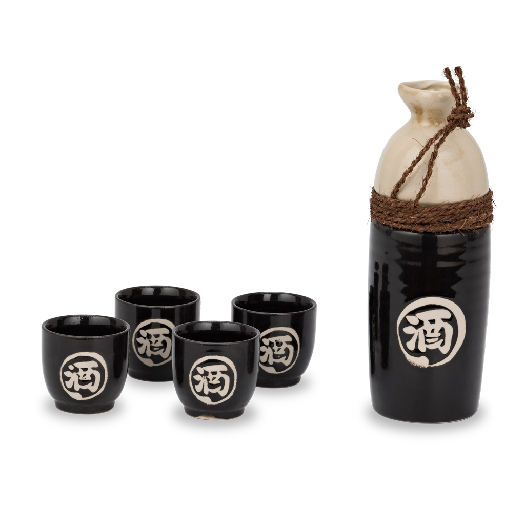 Warimaru Sake Set - Black