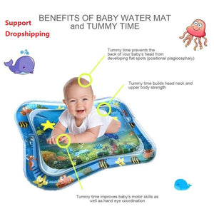 Open image in slideshow, Summer inflatable water mat for babies Safety Cushion Ice Mat Early Education Toys Play