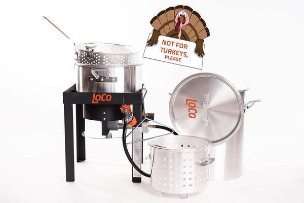 30 QT Boil Fry Steam Kit With Stand