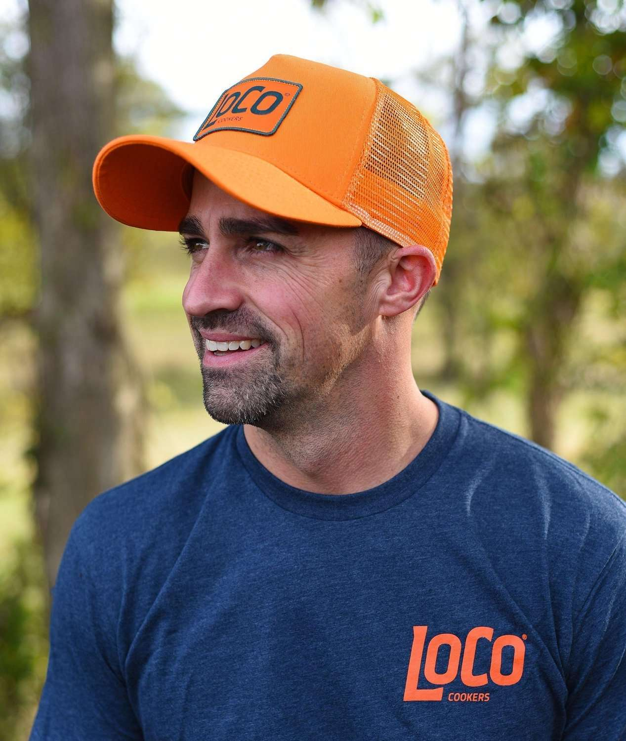 LoCo Patch Orange Trucker Hat - LoCo Cookers