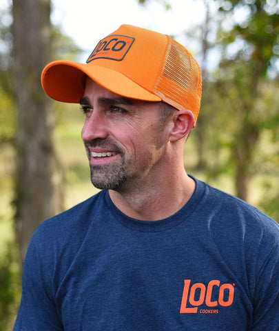 LoCo Patch Orange Trucker Hat