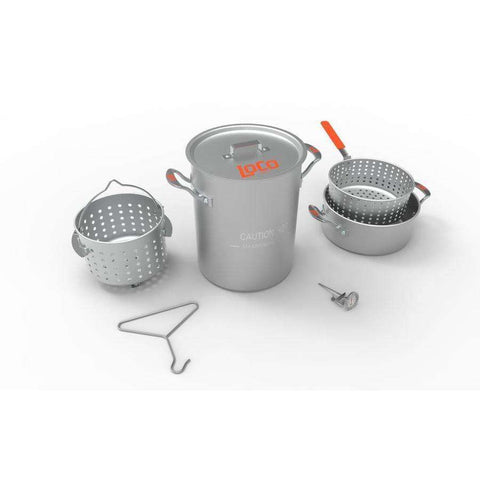 30QT BOIL FRY STEAM POT KIT
