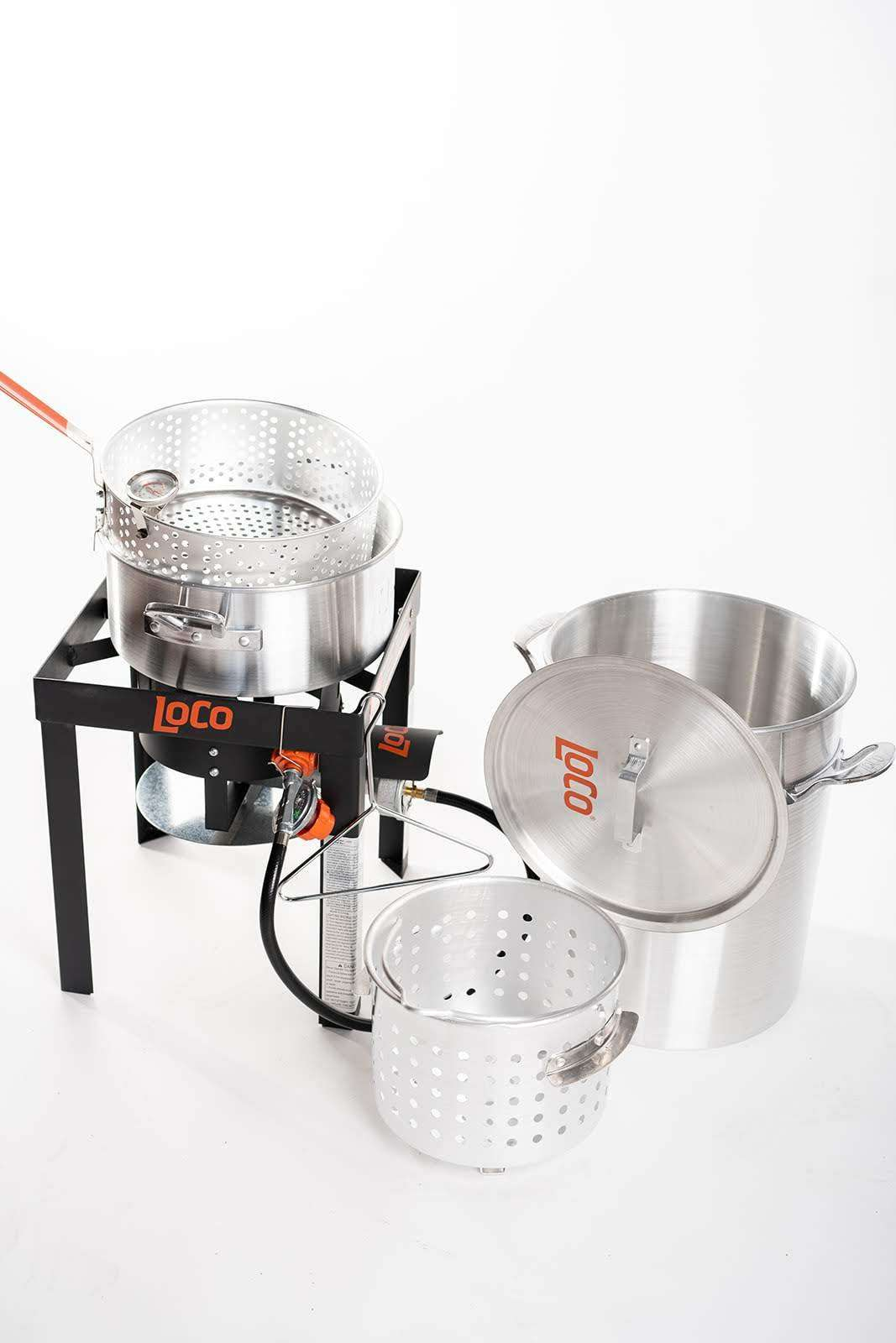 30 QT Boil Fry Steam Kit With Stand - LoCo Cookers