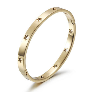 Cutout Star Bangle